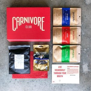 Just Jerky Carnivore Club Food Box